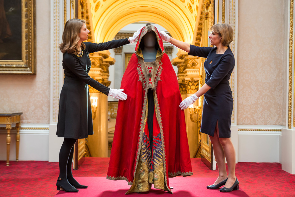 Prince and Patron - The cloak of Napoleon Bonaparte. Royal Collection Trust (c) Her Majesty Queen Elizabeth II 2018