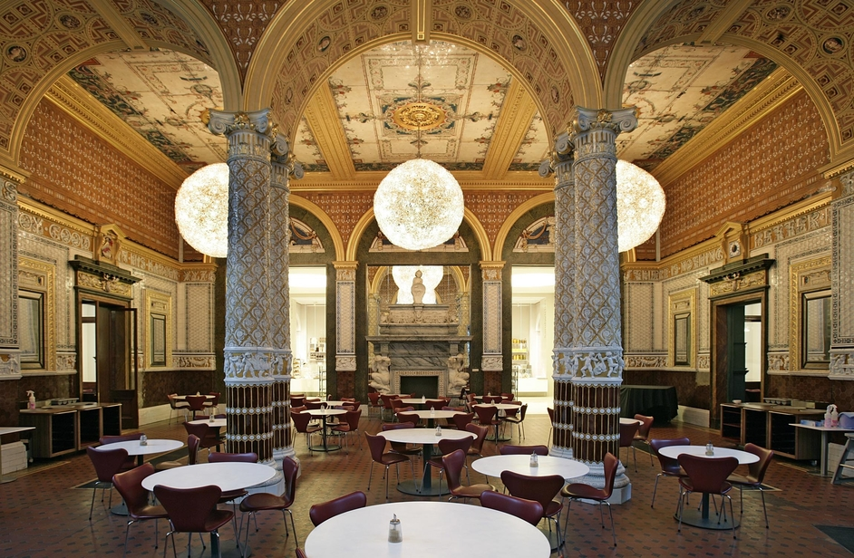 Victoria and Albert (V & A) Museum - V&A Cafe ©Victoria and Albert Museum, London
