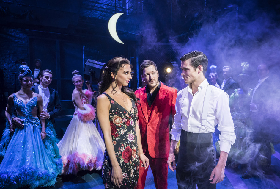 Strictly Ballroom The Musical - Strictly Ballroom: Jonny Labey, Zizi  Strallen and Matt Cardle - photo by Johan Persson