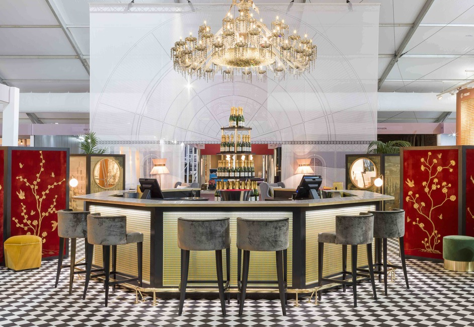 Decorex International - Champagne Bar by Shalini Misra at Decorex 2018. Photo: Andrew Meredith