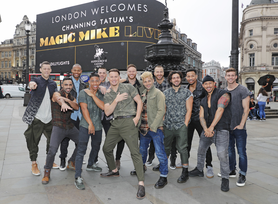 Magic Mike Live - Channing Tatum & the Dancers from the Britain's Got Talent Performance of Magic Mike Live, photo: Dave Benett