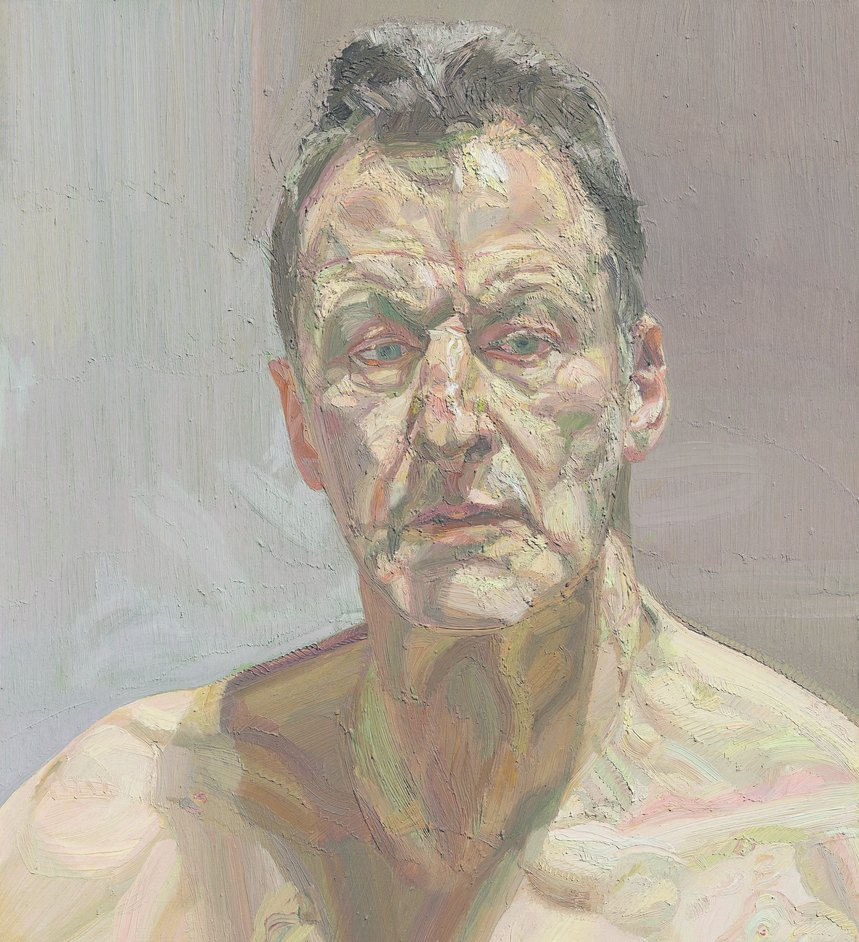 Lucian Freud: The Self-Portraits - Lucian Freud, Reflection (Self-portrait), 1985. Private collection, on loan to the Irish Museum of Modern Art © The Lucian Freud Archive / Bridgeman Images