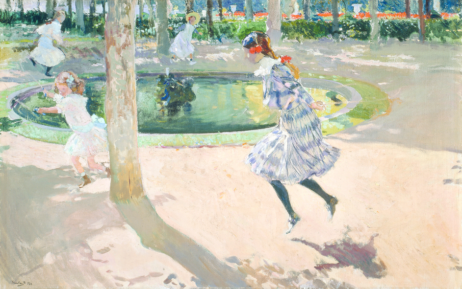 Sorolla: Spanish Master of Light - Joaquin Sorolla, Skipping Rope, La Granja, 1907 © Museo Sorolla, Madrid