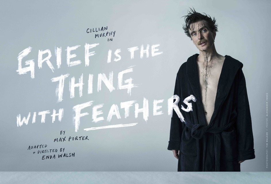 Grief Is The Thing With Feathers - Wayward Productions in association with Complicite, Grief is the Thing with Feathers; Cillian Murphy. Image: Tim Walker. Poster: Alexander Innes