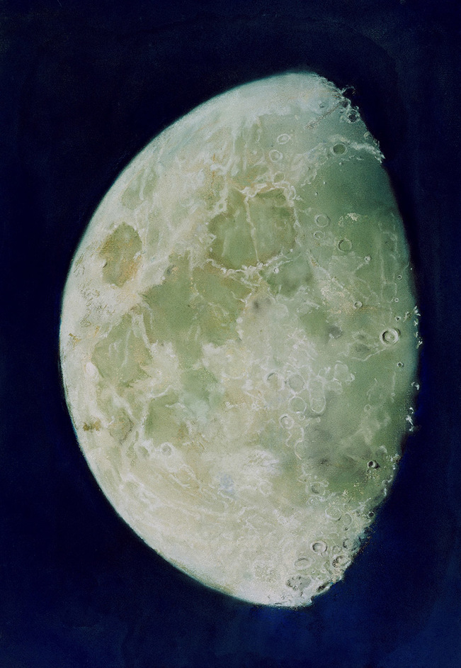 The Moon - Framed pastel drawing entitled 'The Moon' by John Russell, circa 1787 © National Maritime Museum, London