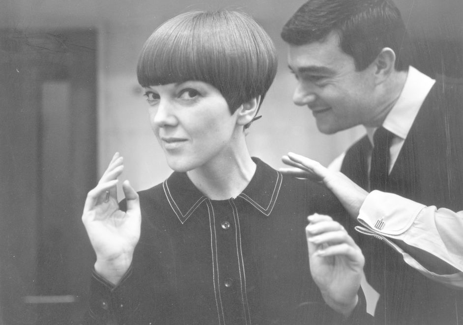 Mary Quant - Mary Quant with Vidal Sassoon, photograph by Ronald Dumont, 1964, Ronald Dumont/Getty Images
