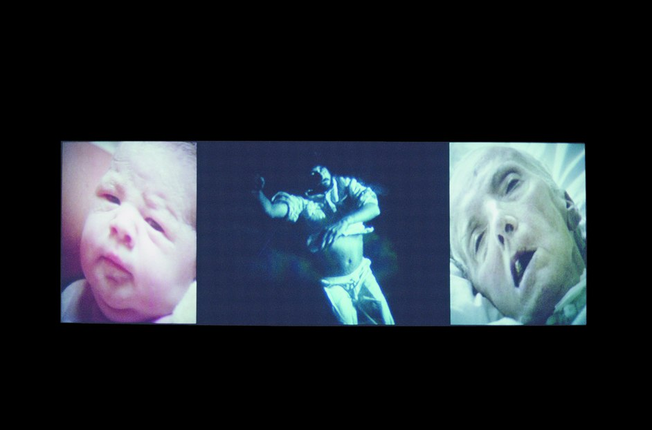 Bill Viola/Michelangelo - Bill Viola, Nantes Triptych, 1992. Video/sound installation. Courtesy Bill Viola Studio. Photo: Kira Perov