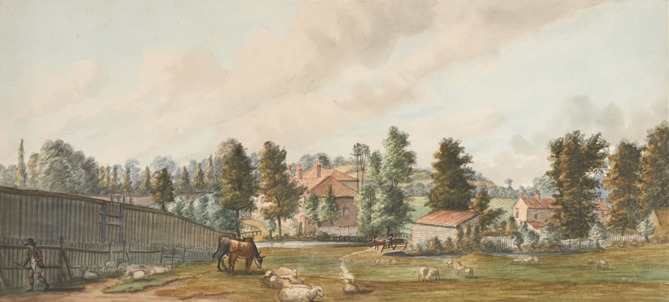 Secret Rivers - Fields at Bayswater, looking towards Craven Hill, 1793, Paul Sandby © Museum of London