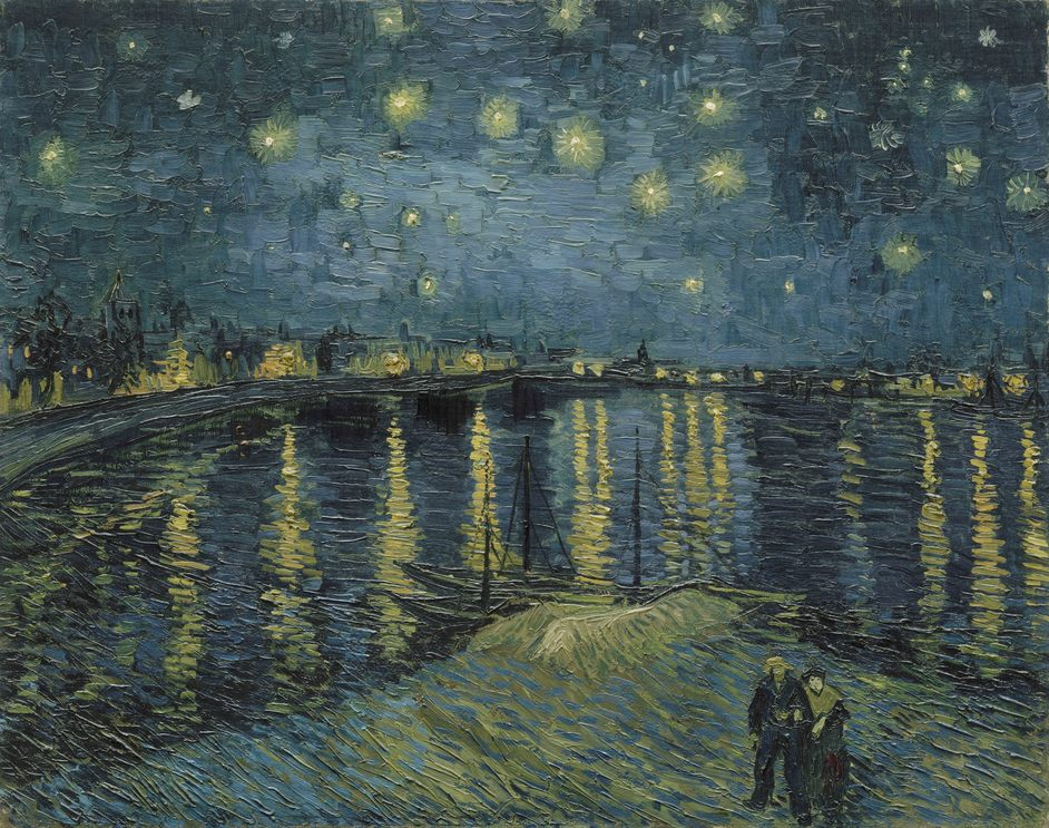 The EY Exhibition: Van Gogh and Britain - Vincent van Gogh, Starry Night Over the Rhone, 1888. Paris, Muse?e d'Orsay. Photo (C) RMN-Grand Palais (muse?e d'Orsay) / Herve? Lewandowski