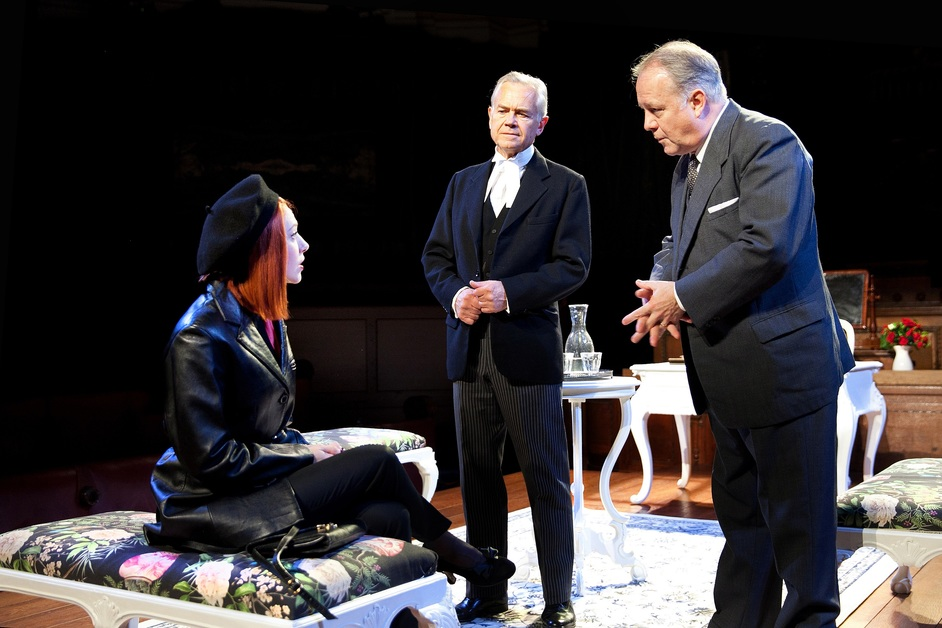 Witness For The Prosecution - Catherine Steadman, David Yelland, Roger Ringrose in Witness for the Prosecution, photo: Sheila Burnett