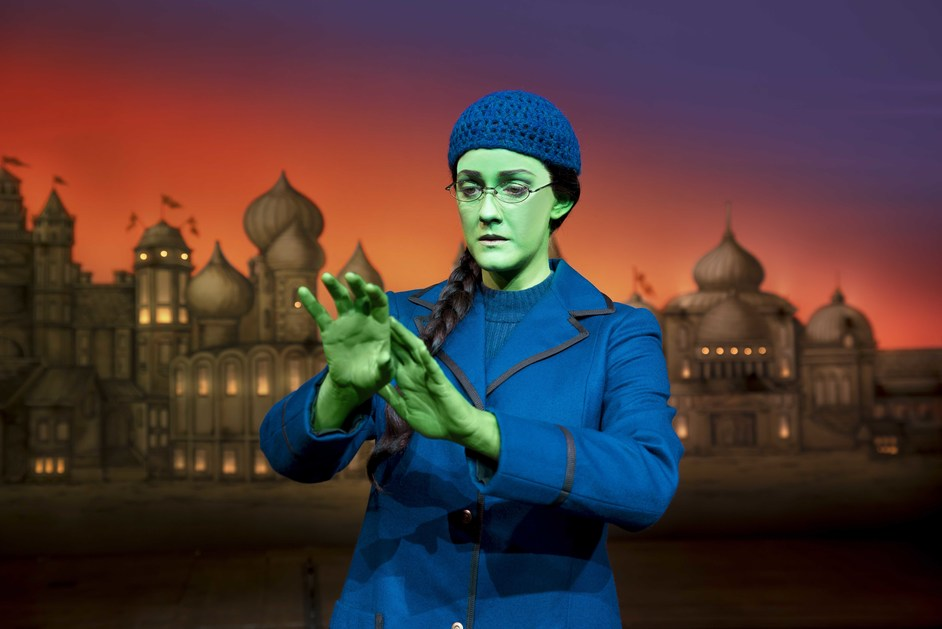 Wicked - Alice Fearn (Elphaba) in Wicked at The Apollo Victoria Theatre. Photo: Matt Crocket