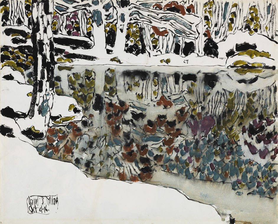 David Milne: Modern Painting - David Milne, Bishop's Pond (Reflections), 1916, National Gallery of Canada, Ottawa. Photo: NGC. © The Estate of David Milne