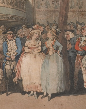 First Amongst Equals - Detail of Thomas Rowlandson, Vauxhall, 1785 © Gerald Coke Handel Foundation