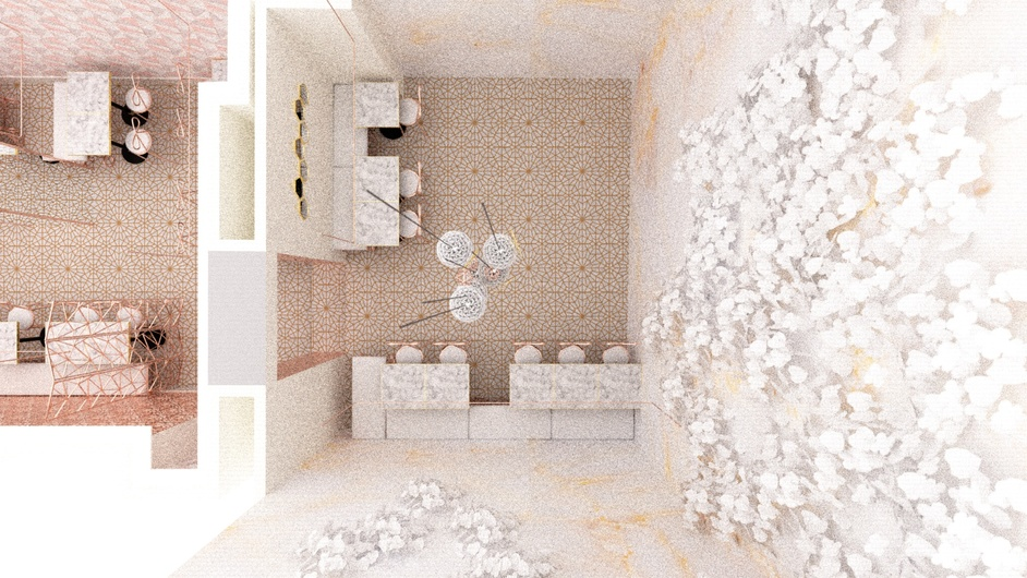 Butterscotch Tea Room - Atrium 3D plan