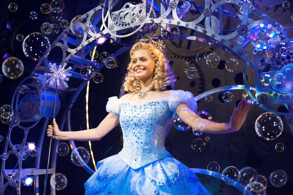 Wicked - Sophie Evans (Glinda) in Wicked at The Apollo Victoria Theatre. Photo: Matt Crocket