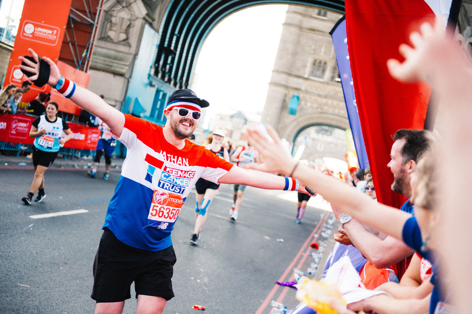 The London Marathon - Photo courtesy of Teenage Cancer Trust, Virgin Money London Marathon charity partner of the year 2018