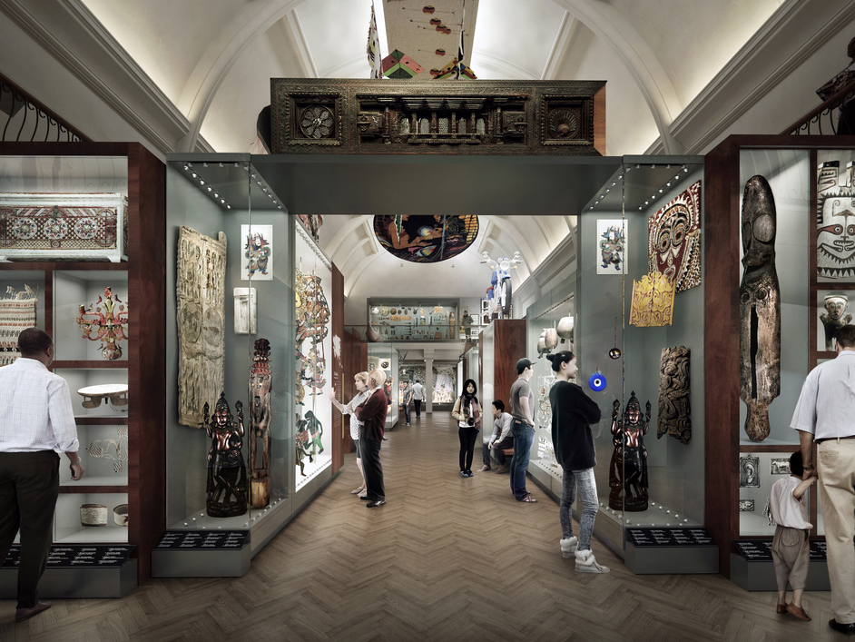World Gallery - Artist's Impression. Planning and design by Ralph Appelbaum Associates