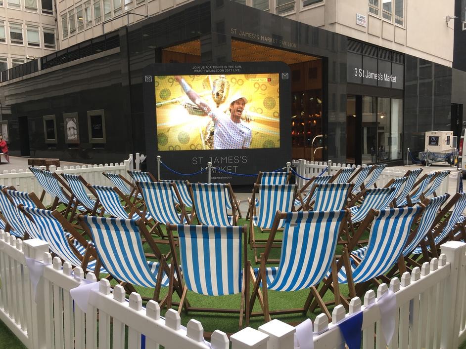 Wimbledon Screening at St James's Market