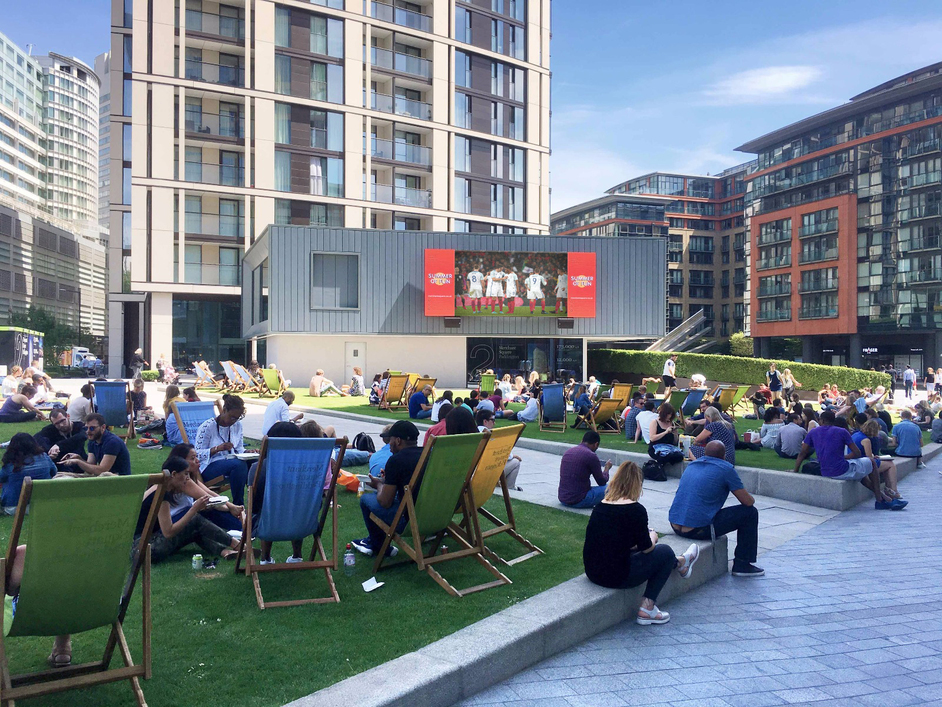 The World Cup at Merchant Square