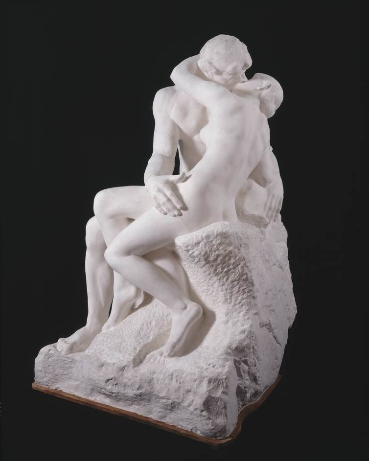 Rodin and the art of ancient Greece - Auguste Rodin (1840?1917), The Kiss, large version, after 1898, Plaster, cast from first marble version, of 1888?98 © Musee Rodin