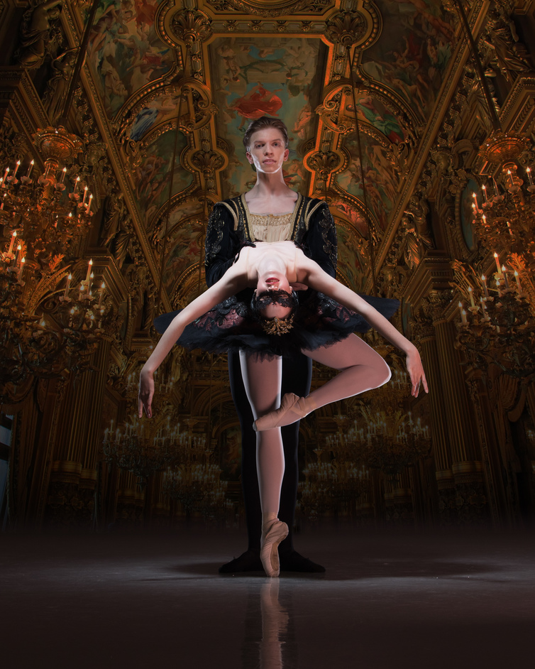 English National Ballet: My First Ballet: Swan Lake - Harvey Littlefield and Beatriz Kuperus as Prince Siegfried and Odile in My First Ballet Swan Lake © Photography by ASH