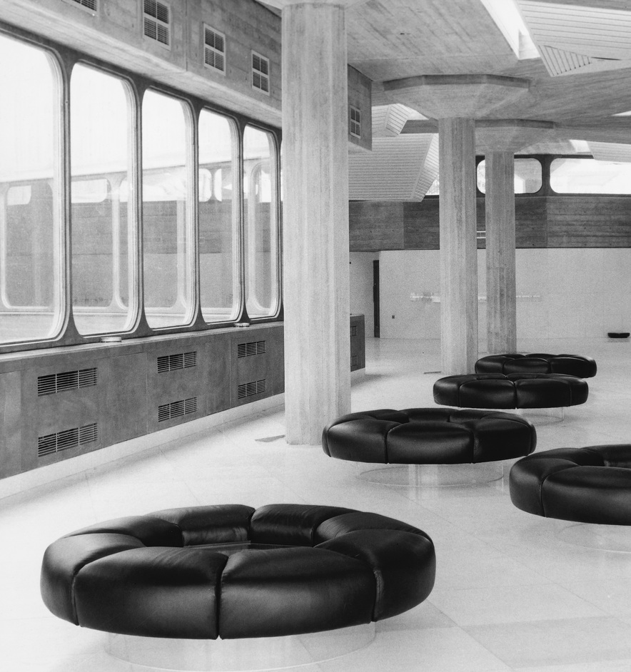 Concrete Dreams Exhibition - Photograph of Queen Elizabeth Hall foyer, c. 1970, (GLC)