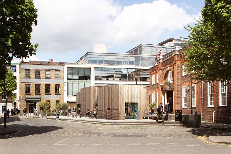 Clerkenwell Design Week - Render of Brintons and Timorous Beasties installation by Studio Shaw Architects at Clerkenwell Design Week 2018 to launch the Craigend Collection