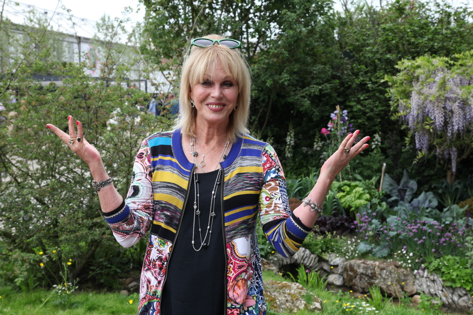 RHS Chelsea Flower Show - Joanna Lumley, Welcome to Yorkshire garden, gold medal winner, RHS Chelsea 2018