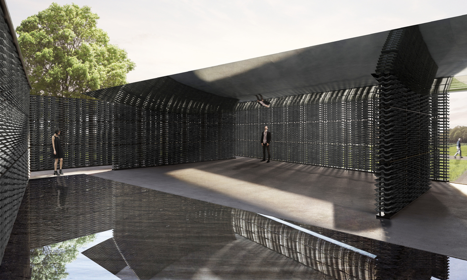 Serpentine Pavilion 2018 - Serpentine Pavilion 2018. Designed by Frida Escobedo, Taller de Arquitectura © Frida Escobedo, Taller de Arquitectura