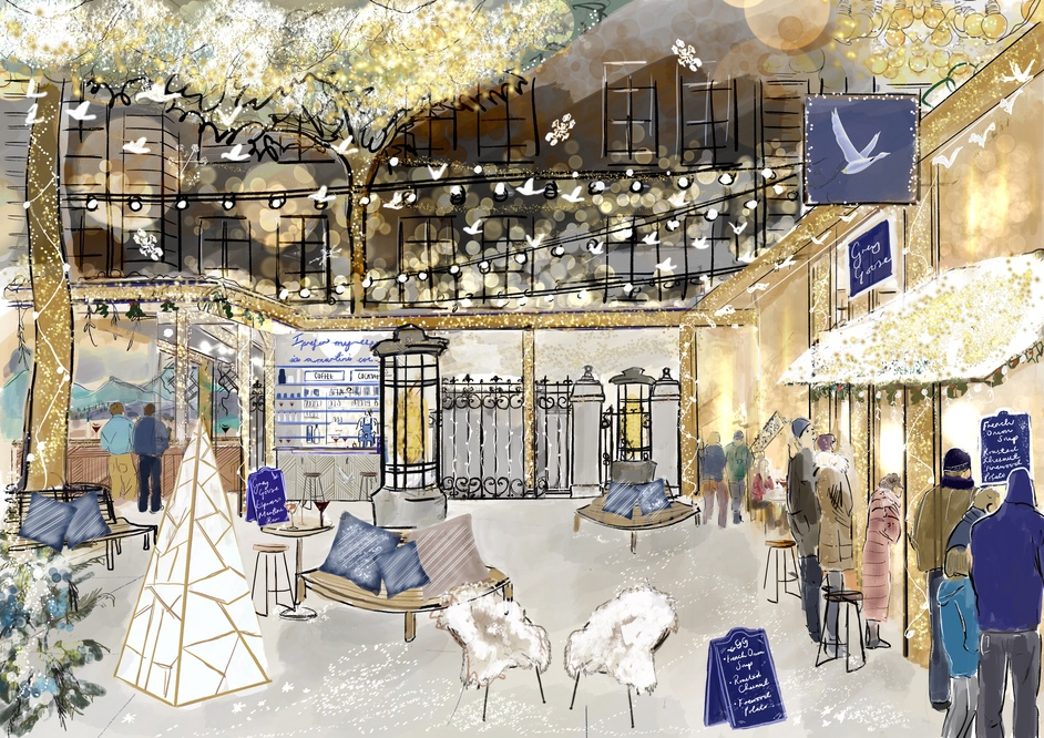 French Winter Village by Grey Goose at The Langham