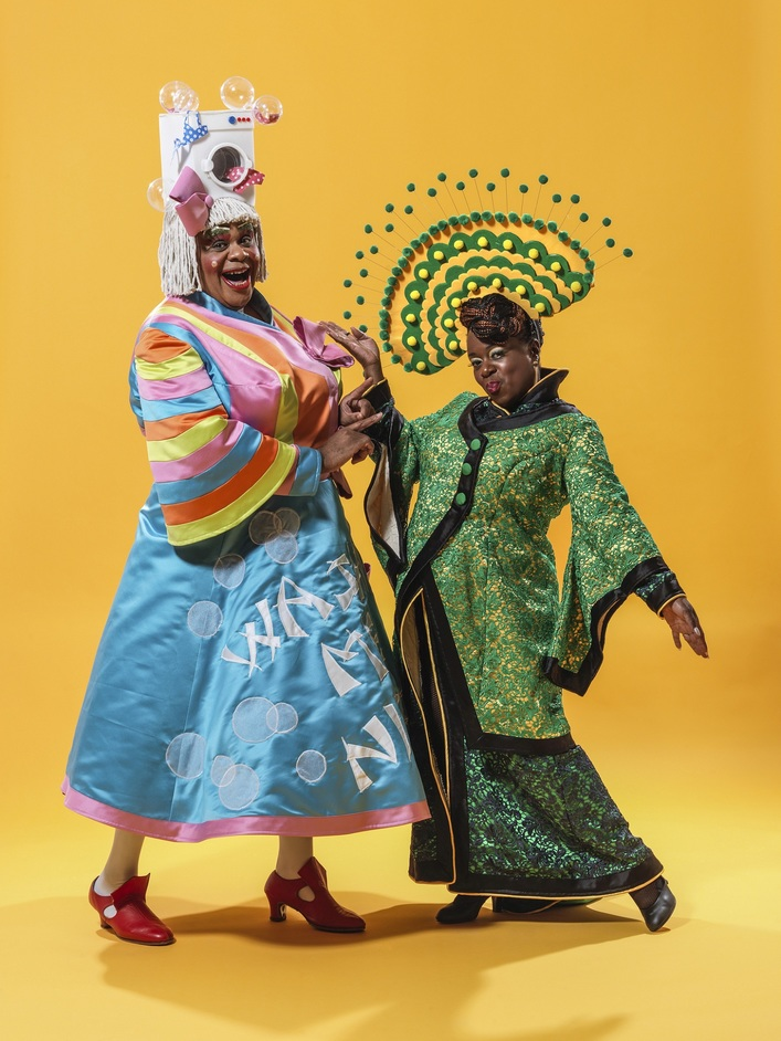 Aladdin at Hackney Empire - Clive Rowe and Tameka Empson. Photo: Perou