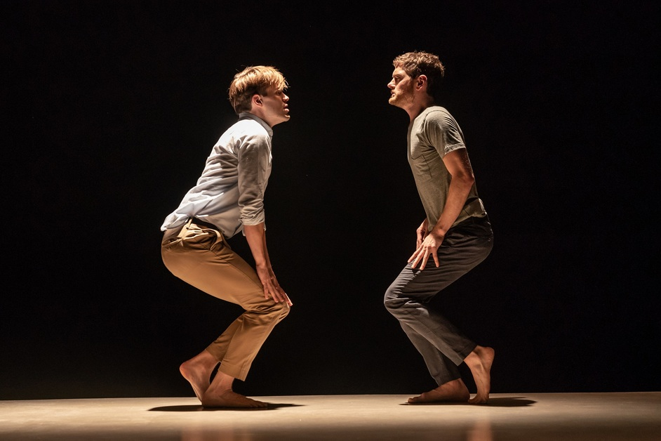 The Inheritance: Part 1 - Andrew Burnap and Kyle Soller in The Inheritance: Part 1. Photo: Marc Brenner