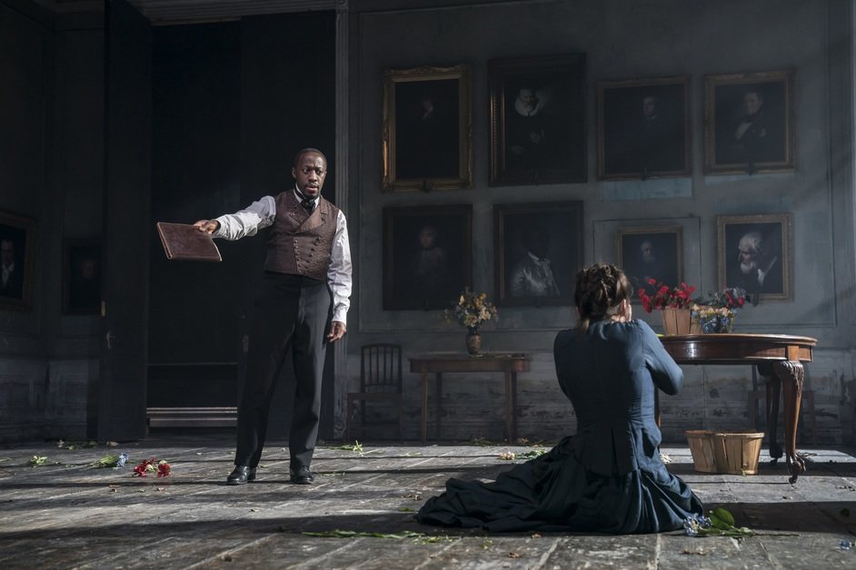 Rosmersholm - Giles Terera and Hayley Atwell, photo: Johan Persson