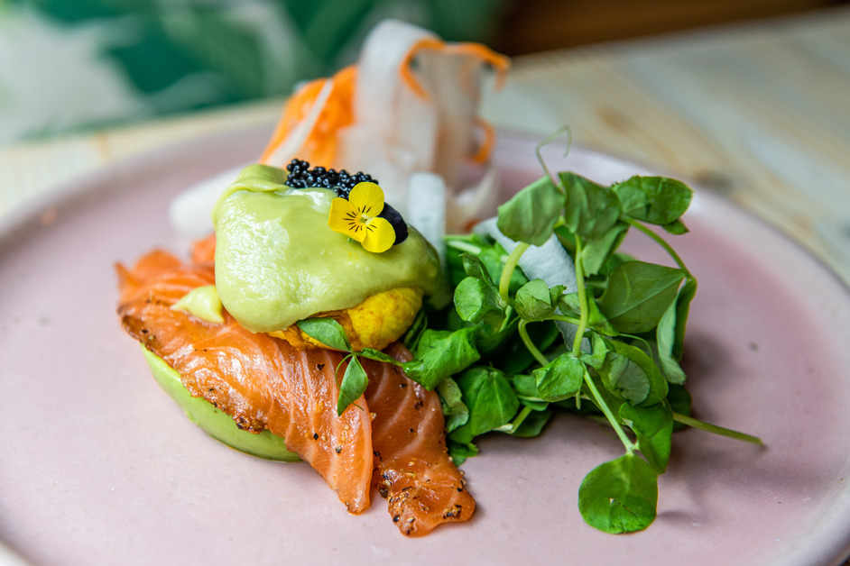 London Brunch Fest - Avo Bar London Covent Garden - Avo boat with cured salmon. Photo: Nic Crilly-Hargrave