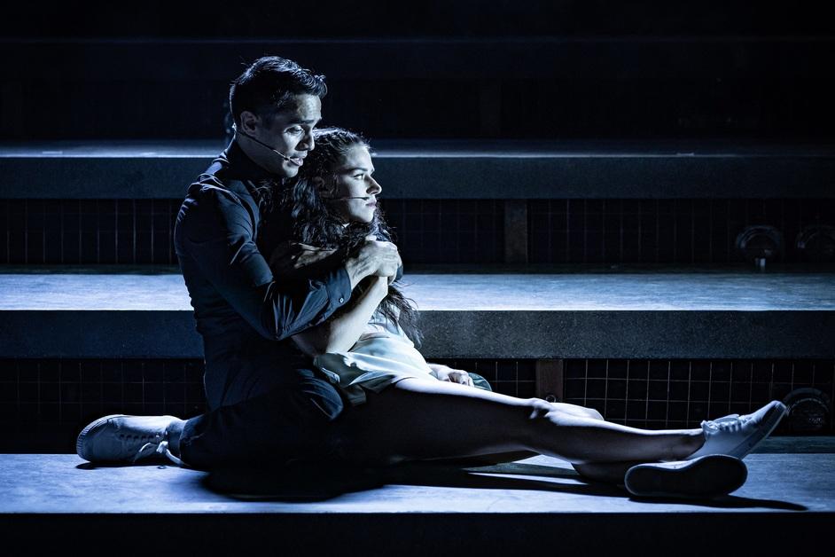 Evita - Ektor Rivera as Juan Peron and Samantha Pauly as Eva Peron. Photo: Marc Brenner