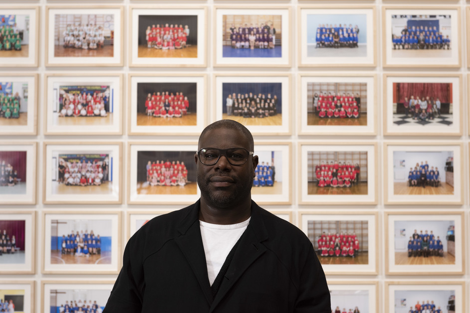 Steve McQueen: Year 3 - Portrait of Steve McQueen in Year 3 at Tate Britain ©Tate. Photo Jessica McDermott