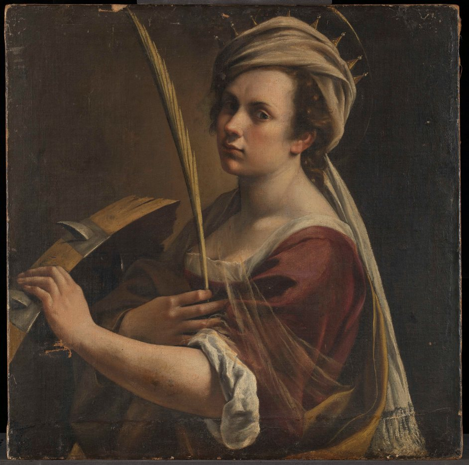 POSTPONED: Artemisia Gentileschi - Artemisia Gentileschi (1593 ? 1654 or later) Self Portrait as Saint Catherine of Alexandria about 1615-17 Oil on canvas 71.5 x 71 cm © The National Gallery, London