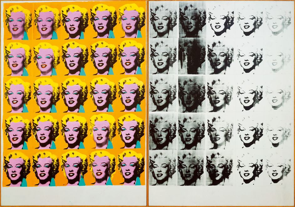 Andy Warhol - Andy Warhol, Marilyn Diptych 1962, Tate © 2019 The Andy Warhol Foundation for the Visual Arts, Inc / Artists Right Society (ARS), New York and DACS, London