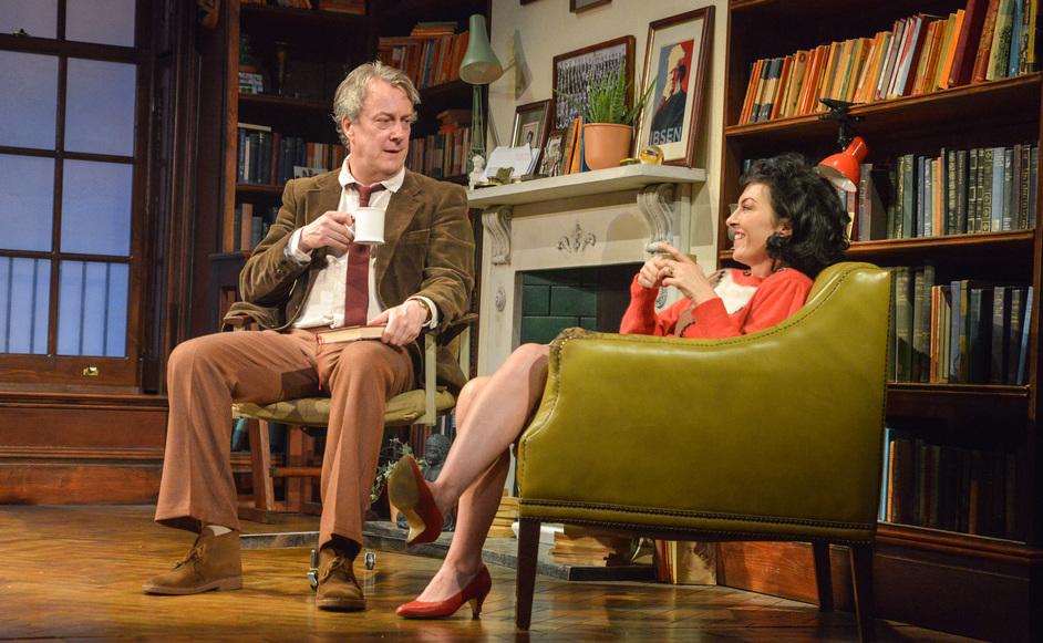 Educating Rita - Stephen Tompkinson as Frank and Jessica Johnson as Rita. Photo: Robert Day