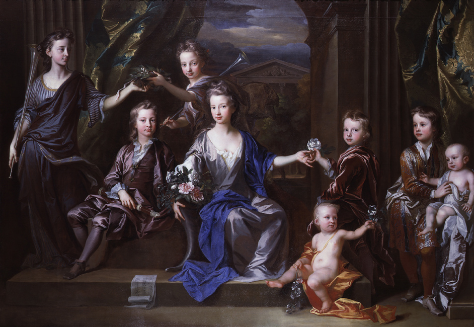 British Baroque: Power and Illusion - John Closterman, The Children of John Taylor of Bifrons Park 1696 National Portrait Gallery