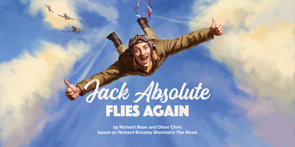 Jack Absolute Flies Again - Illustration by The Red Dress. Art direction and design by National Theatre Graphic Design Studio