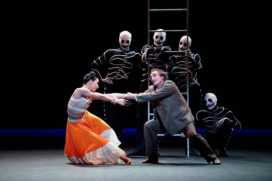 English National Ballet: She Persisted - Tamara Rojo and Irek Mukhamedov in Broken Wings ©Laurent Liotardo