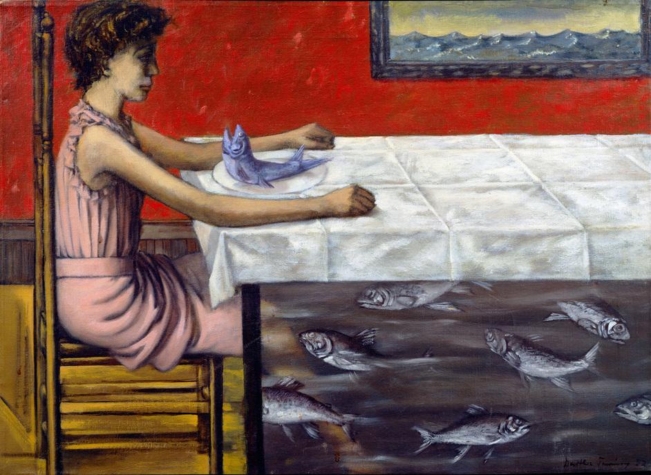 Dorothea Tanning - Dorothea Tanning (1910 ?2012) La Truite au bleu (Poached Trout) 1952 Michael Wilkinson, New Orleans, L.A© DACS, 2019