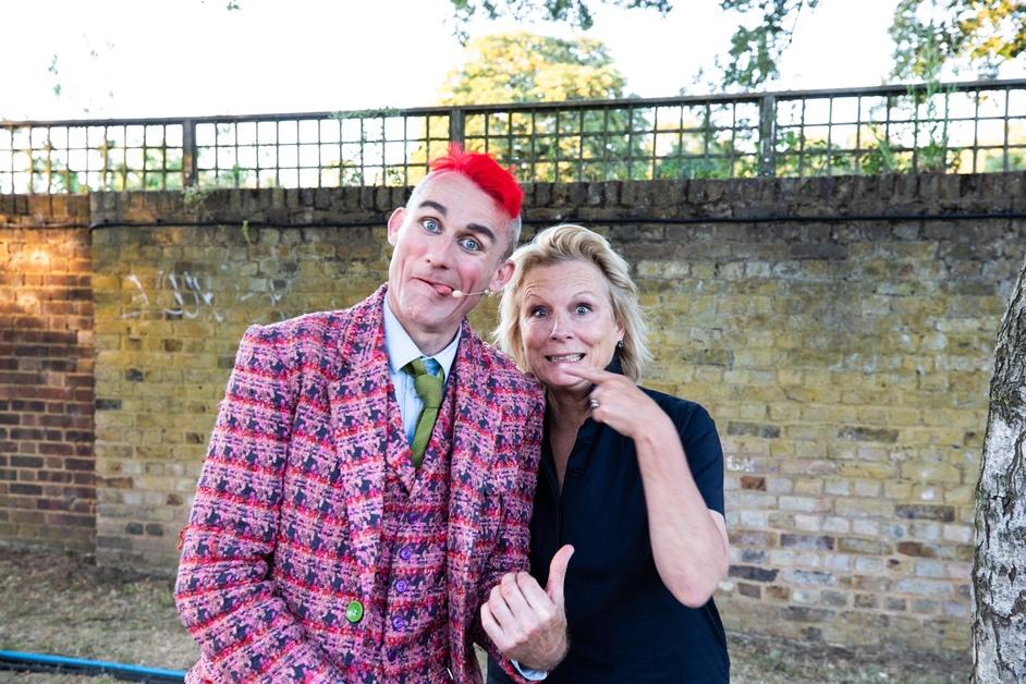 Giffords Circus: The Hooley - Tweedy and Jennifer Saunders, photo © Gem Hall