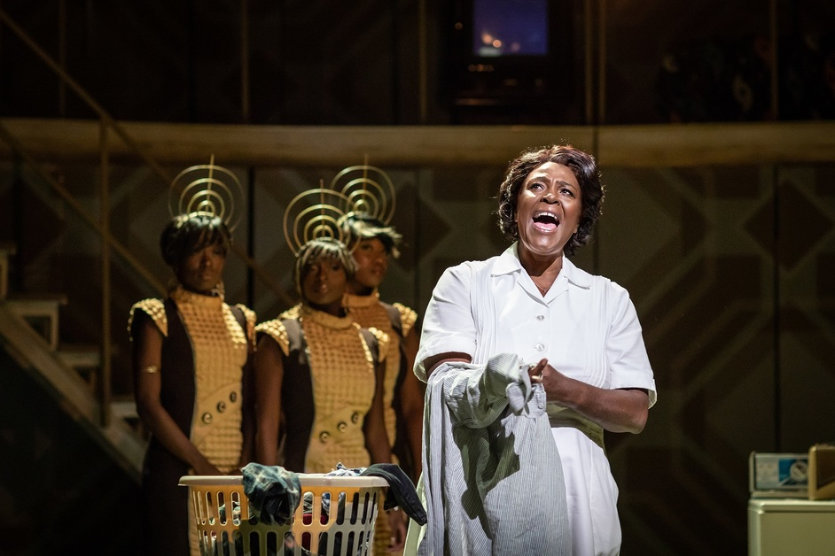 Caroline, Or Change - Sharon D. Clarke and ensemble in Caroline, Or Change, Playhouse Theatre, photo: Helen Maybanks