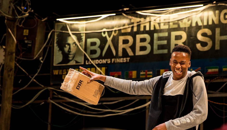Barber Shop Chronicles - Elliot Edusah, Barber Shop Chronicles US and Canada Tour. Photo: Ryan Hartford CAP UCLA