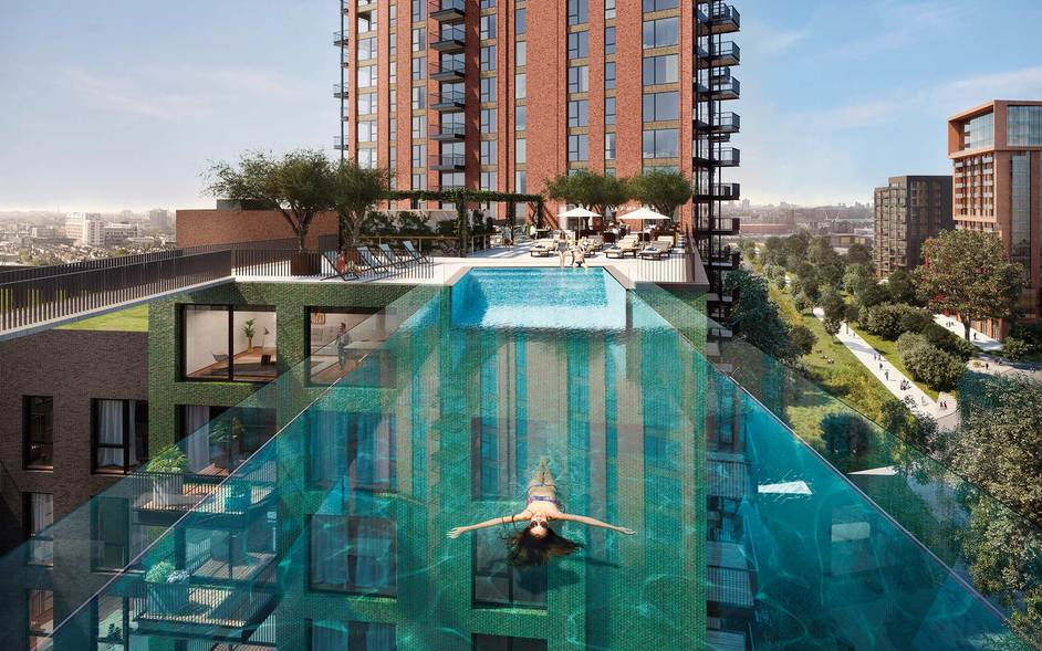 Sky Pool at Embassy Gardens - image: Embassy Gardens