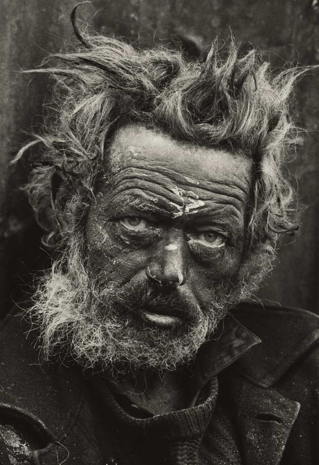 Don McCullin - Homeless Irishman, Spitalfields, London 1935