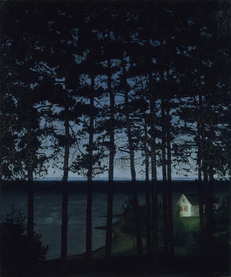 Harald Sohlberg: Painting Norway - Harald Sohlberg, Fisherman?s Cottage, 1906, Art Institute of Chicago, Gift of Edward Byron Smith