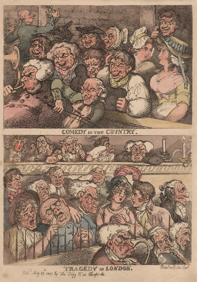 Two Last Nights! Show Business in Georgian Britain - Thomas Rowlandson, Comedy in the Country, 1807 © Gerald Coke Handel Foundation